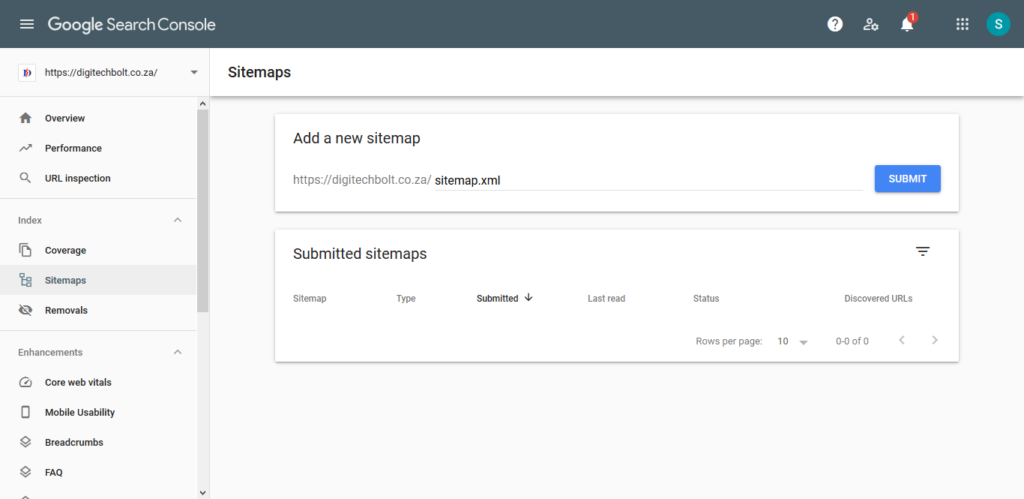 How to set up a Google Search console account