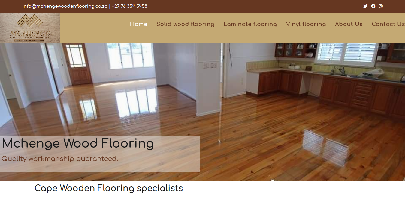 We designed this website for Mchenge Wooden flooring