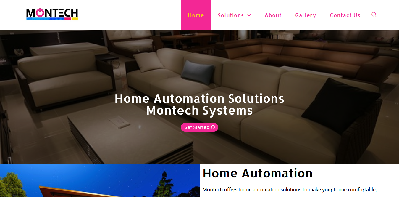 website for Montech designed by us
