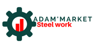 Adam's Market Steel Works logo designed by Digitechbolt