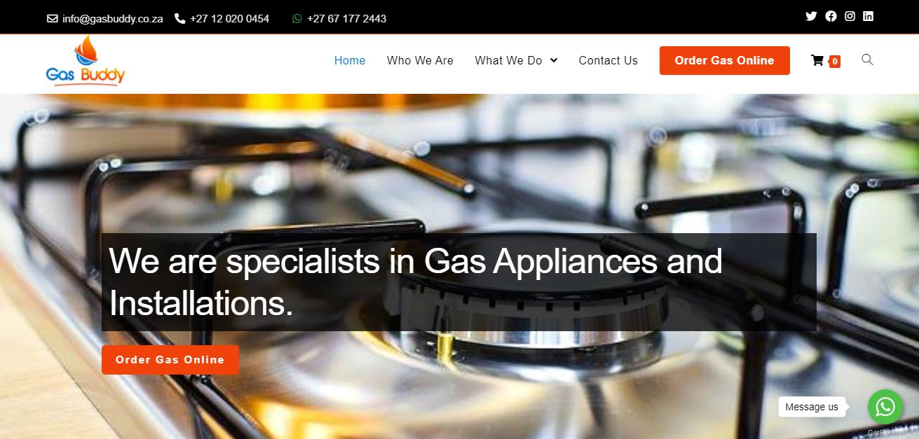 Gas Buddy business website designed by Digitechbolt