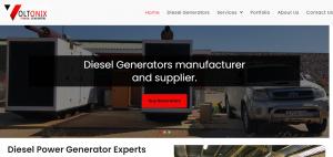 Voltonix Power Generators website designed by Digitechbolt