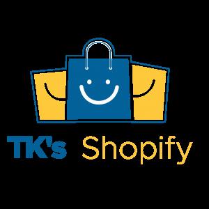 TK's Shopify logo designed by Digitechbolt